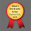 Week 1test and tasks badge